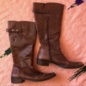 Matisse Brown Leather Knee High Boots